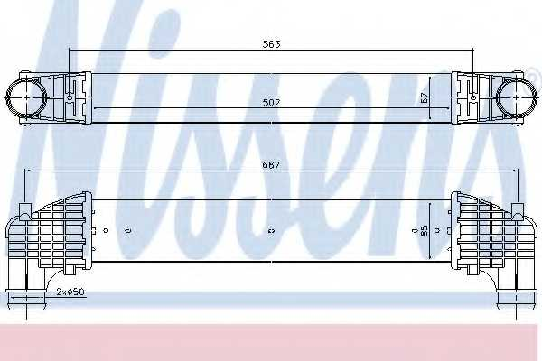 Интеркулер NISSENS 96750 - изображение