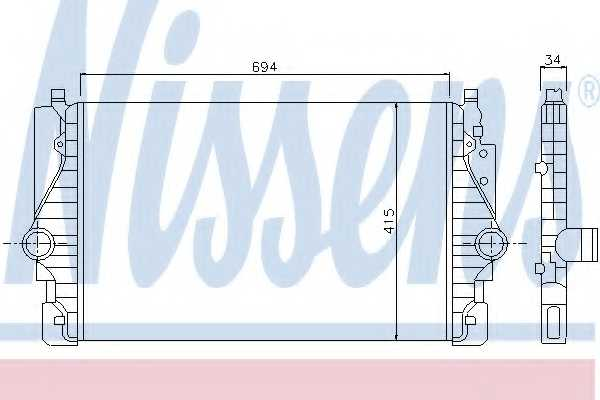 Интеркулер NISSENS 96755 - изображение