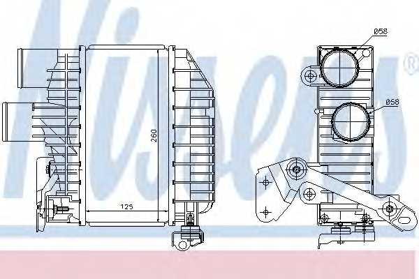 Интеркулер NISSENS 96758 - изображение