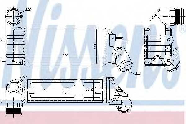 Интеркулер NISSENS 96765 - изображение