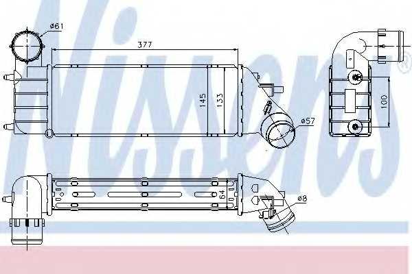 Интеркулер NISSENS 96766 - изображение