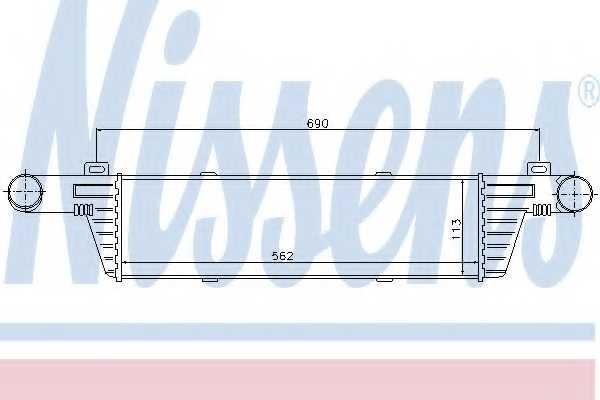 Интеркулер NISSENS 96860 - изображение