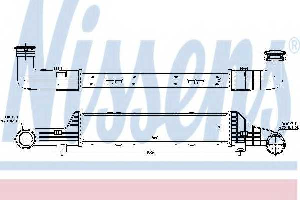 Интеркулер NISSENS 96899 - изображение