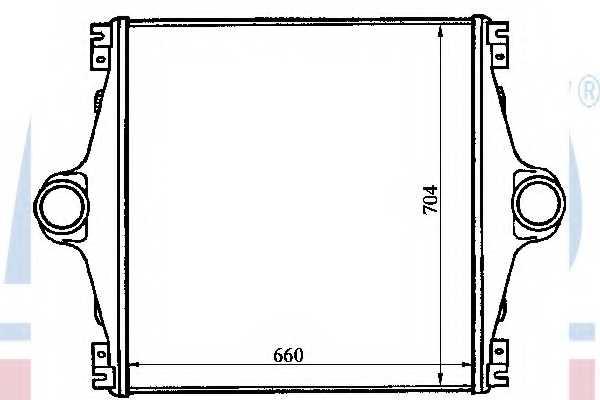 Интеркулер NISSENS 96964 - изображение