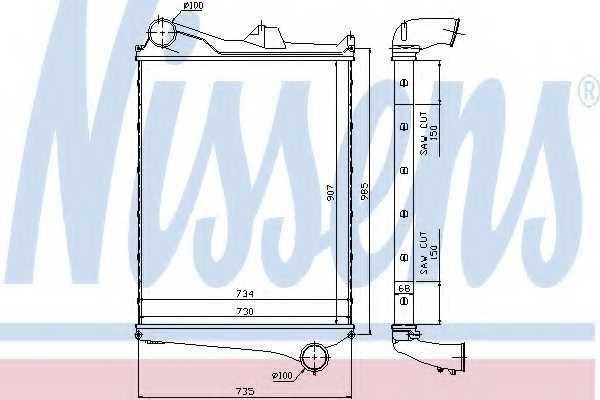 Интеркулер NISSENS 97006 - изображение