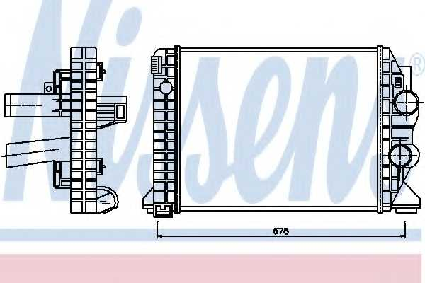 Интеркулер NISSENS 97033 - изображение