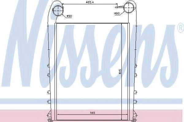 Интеркулер NISSENS 97058 - изображение
