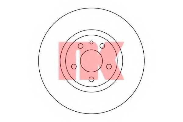 Тормозной диск NK 201017 - изображение