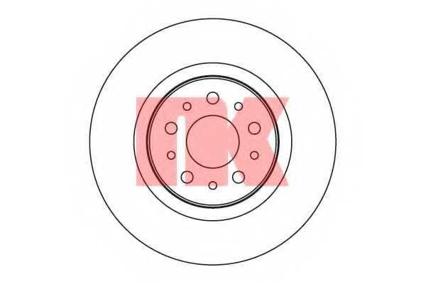 Тормозной диск NK 201021 - изображение
