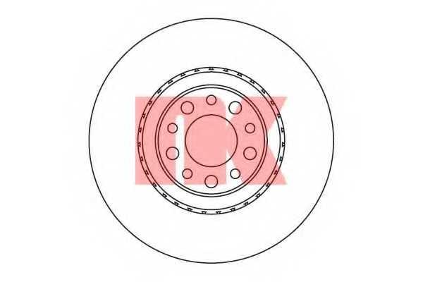 Тормозной диск NK 201023 - изображение