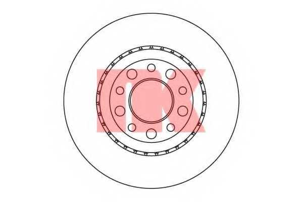 Тормозной диск NK 201025 - изображение
