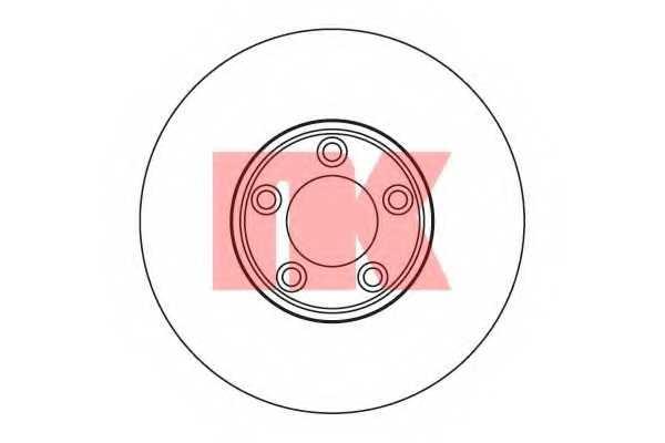 Тормозной диск NK 201223 - изображение
