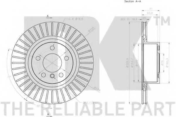 Тормозной диск NK 2015105 - изображение 2
