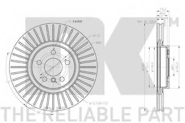 Тормозной диск NK 2015115 - изображение 2