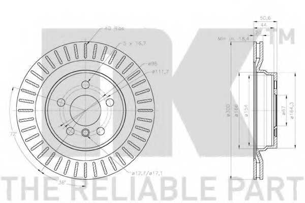 Тормозной диск NK 2015117 - изображение 1