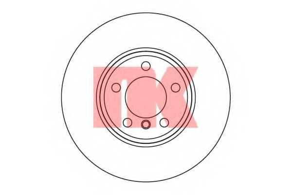 Тормозной диск NK 201559 - изображение
