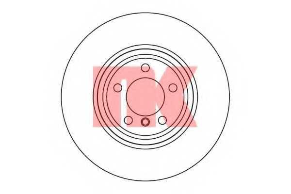 Тормозной диск NK 201560 - изображение