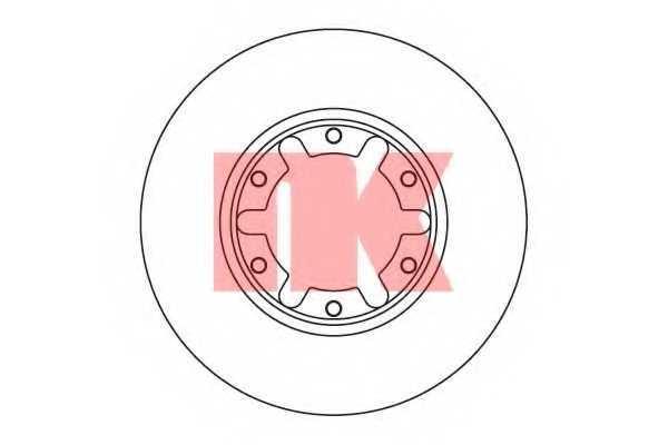 Тормозной диск NK 202265 - изображение