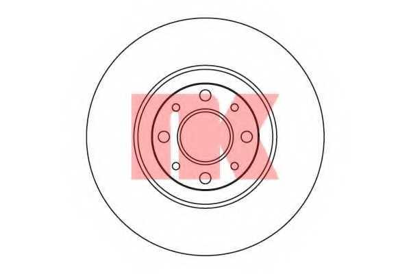 Тормозной диск NK 202344 - изображение