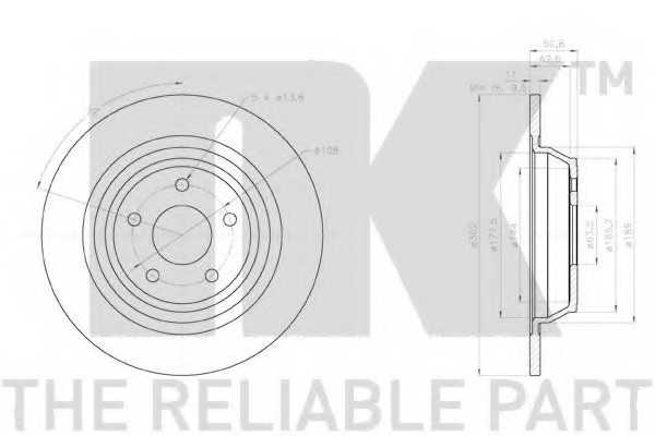 Тормозной диск NK 2025101 - изображение 1
