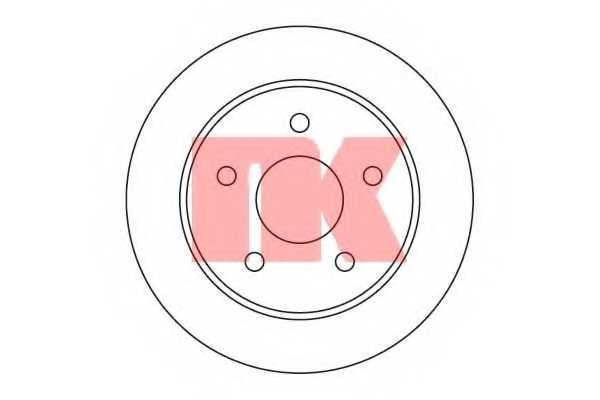 Тормозной диск NK 202522 - изображение