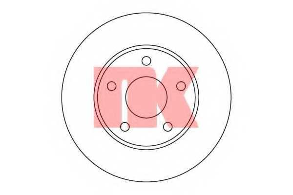 Тормозной диск NK 202524 - изображение