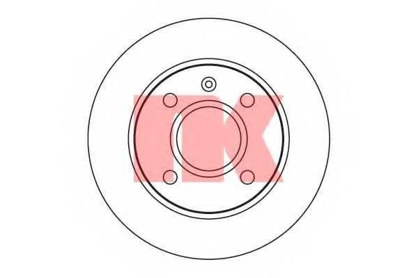 Тормозной диск NK 202526 - изображение