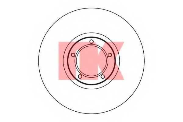 Тормозной диск NK 202531 - изображение