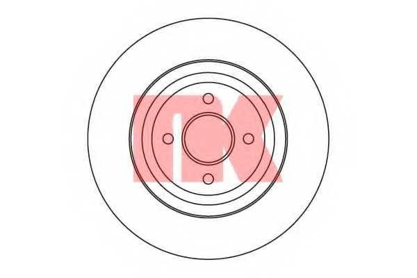 Тормозной диск NK 202566 - изображение