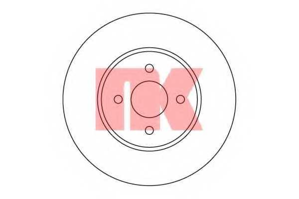 Тормозной диск NK 202567 - изображение
