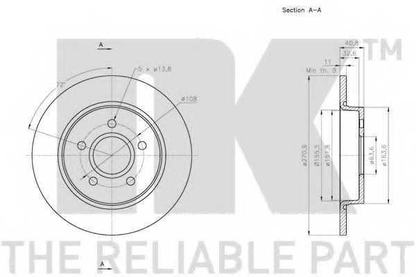 Тормозной диск NK 202584 - изображение 2