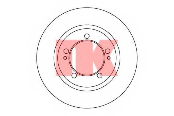 Тормозной диск NK 203037 - изображение