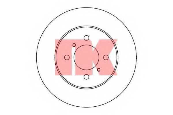 Тормозной диск NK 203039 - изображение