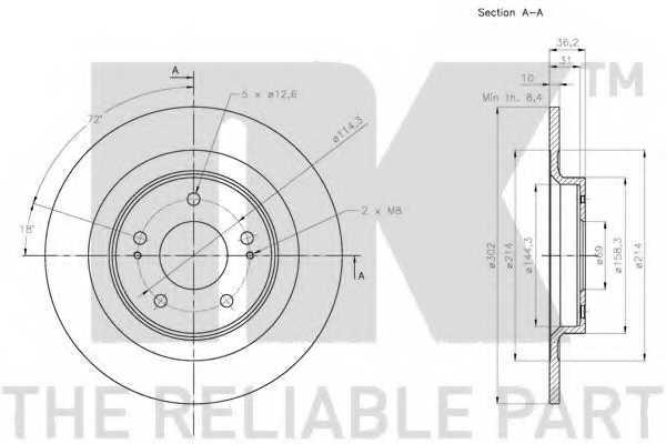 Тормозной диск NK 203085 - изображение 2