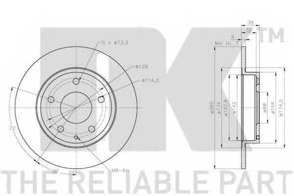 Тормозной диск NK 203283 - изображение 2