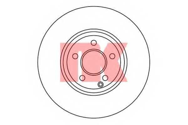 Тормозной диск NK 2033103 - изображение