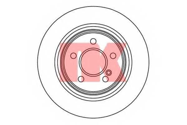 Тормозной диск NK 2033105 - изображение
