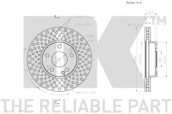 Тормозной диск NK 2033111 - изображение 2