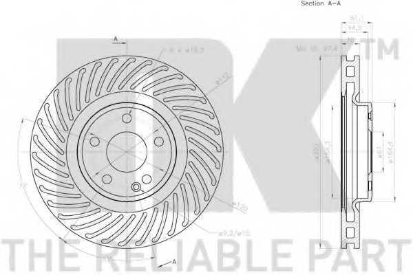 Тормозной диск NK 2033123 - изображение 2