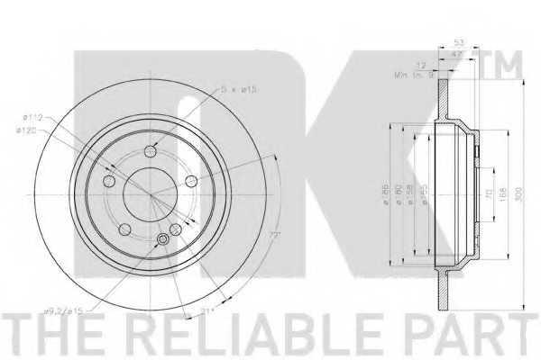 Тормозной диск NK 2033130 - изображение 2
