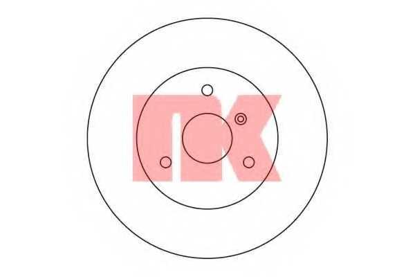 Тормозной диск NK 203348 - изображение