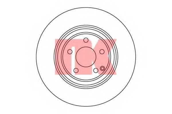 Тормозной диск NK 203351 - изображение