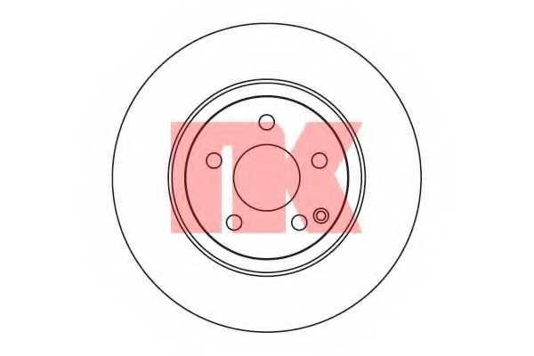 Тормозной диск NK 203353 - изображение