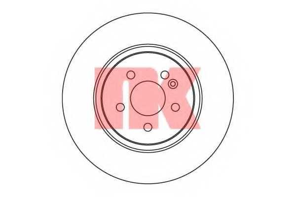 Тормозной диск NK 203357 - изображение