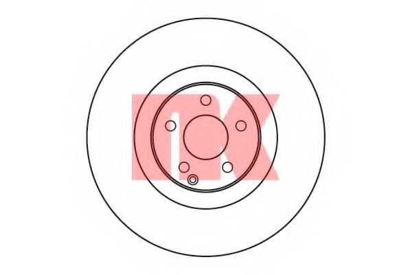 Тормозной диск NK 203366 - изображение