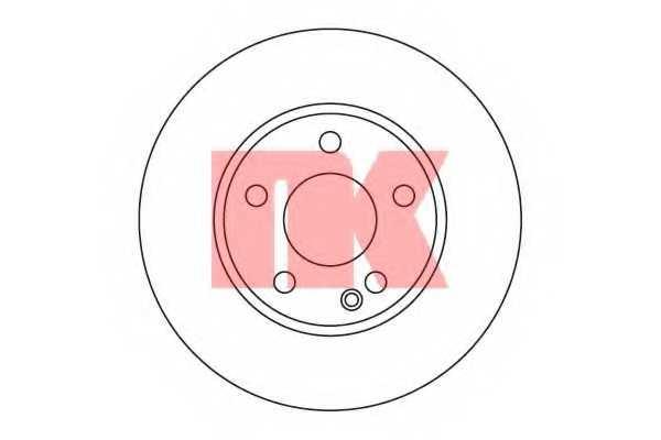 Тормозной диск NK 203371 - изображение