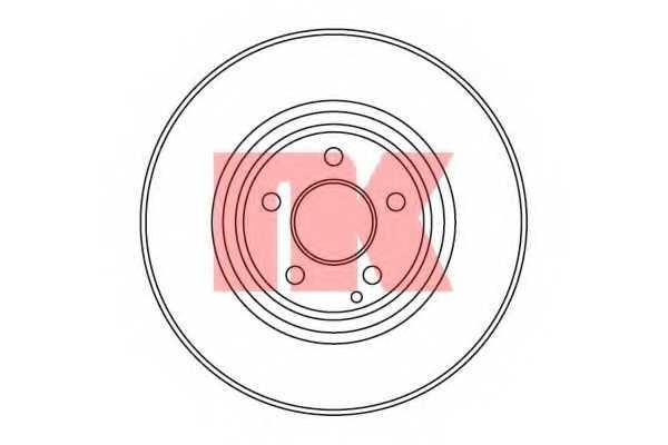 Тормозной диск NK 203382 - изображение