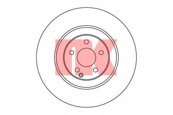 Тормозной диск NK 203383 - изображение