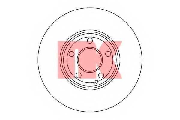 Тормозной диск NK 203386 - изображение