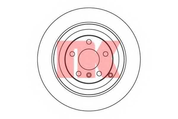 Тормозной диск NK 203391 - изображение